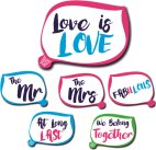 3 double sided LGBT friendly wedding signs