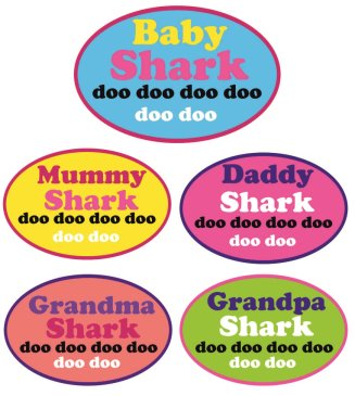 Baby shark Set of 5