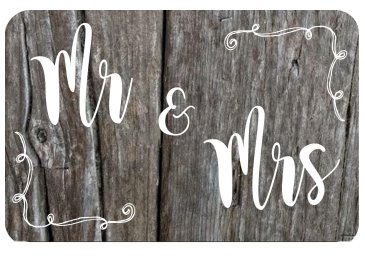 Rustic Mr and Mrs Sign