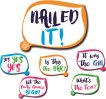 Nailed it set of 3 double sided Shout Out prop signs