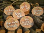 Wood slice set is perfect for rustic or woodland weddings