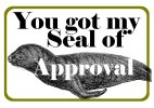 Seal of Approval photo booth prop sign