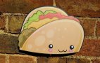 Kawaii Taco photo booth prop sign