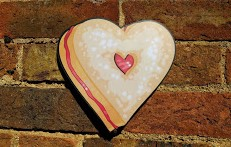 Cute Heart Shaped sugar Biscuit photo booth prop sign