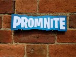 PROMNITE photo booth sign