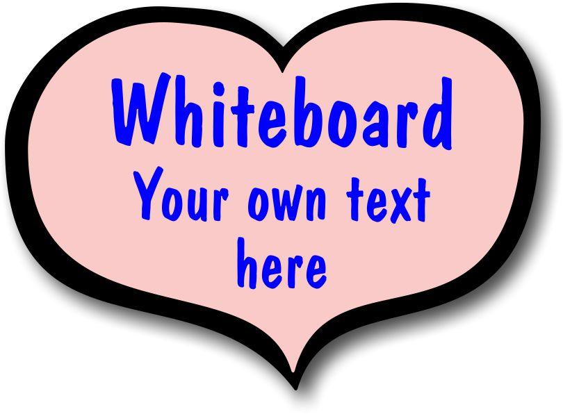 Pink Whiteboard Heart
