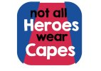 Not all heroes wear capes photo booth sign