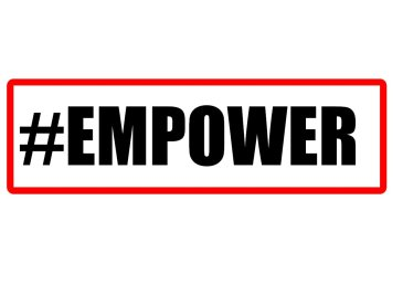 #Empower photo booth sign