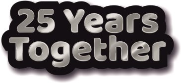 25 Years Together Silver Wedding anniversary sign