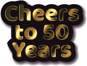 Cheers to 50 Years golden wedding anniversary photo booth prop