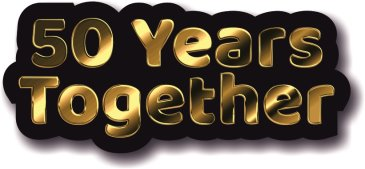 50 Years together Golden Wedding Anniversary photo booth prop