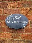 Just Married Wedding Sign for Photo Booth