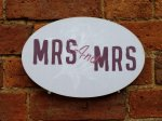 Mrs and Mrs same Sex Wedding Signs