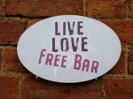 Live Love Free Bar Photo Booth Sign