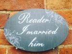 Reader I Married Him romantic photo booth sign