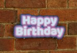 Colourful Happy Birthday photo booth sign