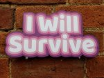 I will Survive photo booth prop sign