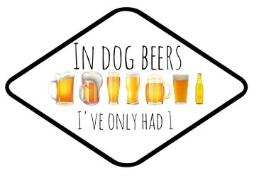 In Dog Beers I've only had One  Photo Booth Prop sign