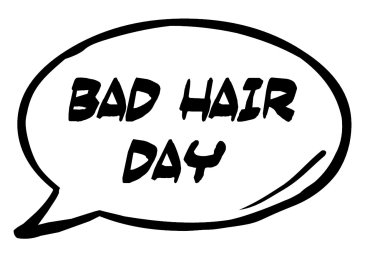 Bad Hair Day Speech Bubble photo booth sign