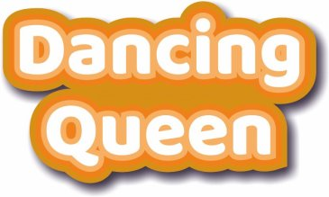Dancing Queen photo booth prop