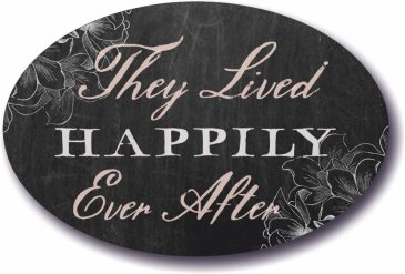 They lived Happily ever after wedding sign