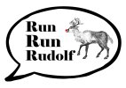 Run Run Rudolf Christmas photo booth prop