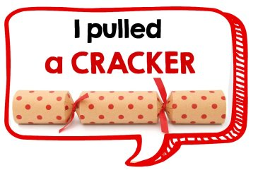 I pulled a cracker fun Christmas photo booth prop