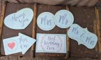 Set of Six Romantic Wedding Props