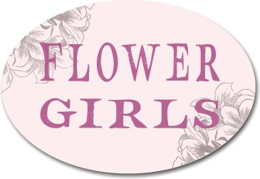 Flower Girls photo booth sign