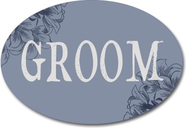 Oval Groom Wedding Photo Booth Sign
