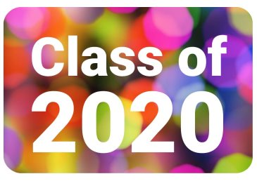 Class of 2020 colourful photo booth prop for school dances, proms, leavers dinners
