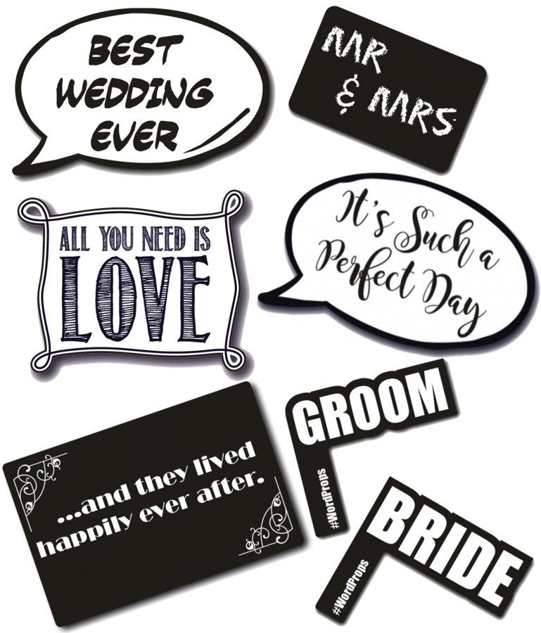 7 high quality wedding photo booth prop